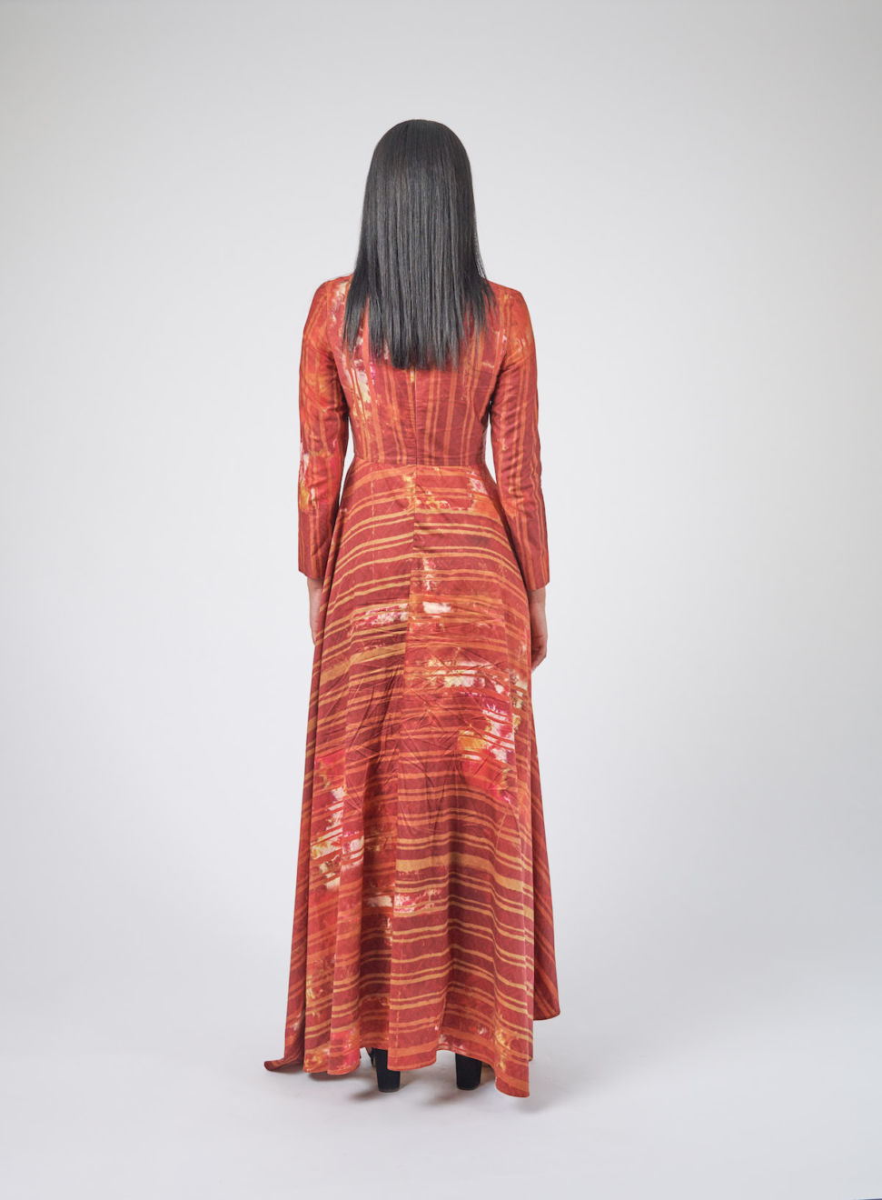 Batik Evening Dress-back