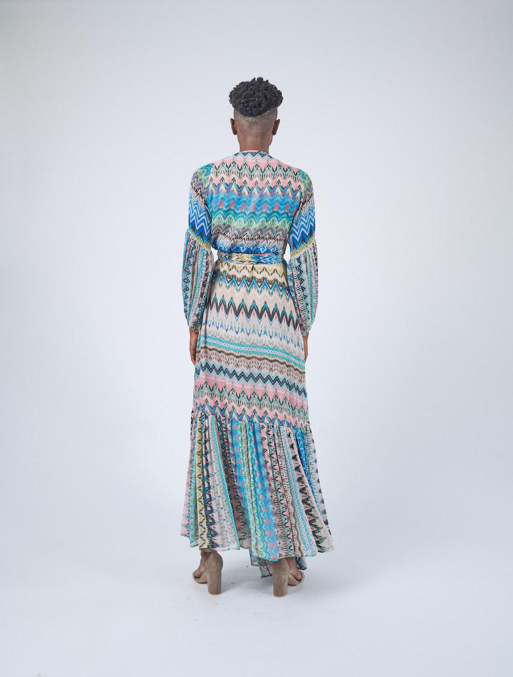 Carinen Wrap Dress Back