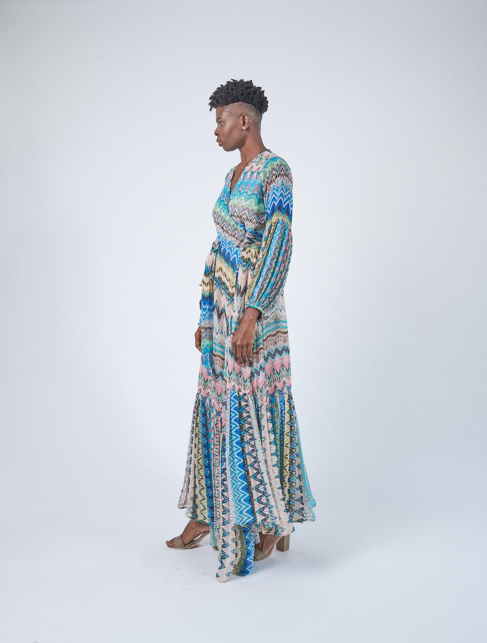 Carinen Wrap Dress Side