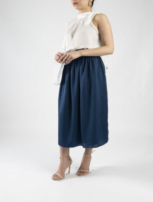 Drawstring Wrap Skirt
