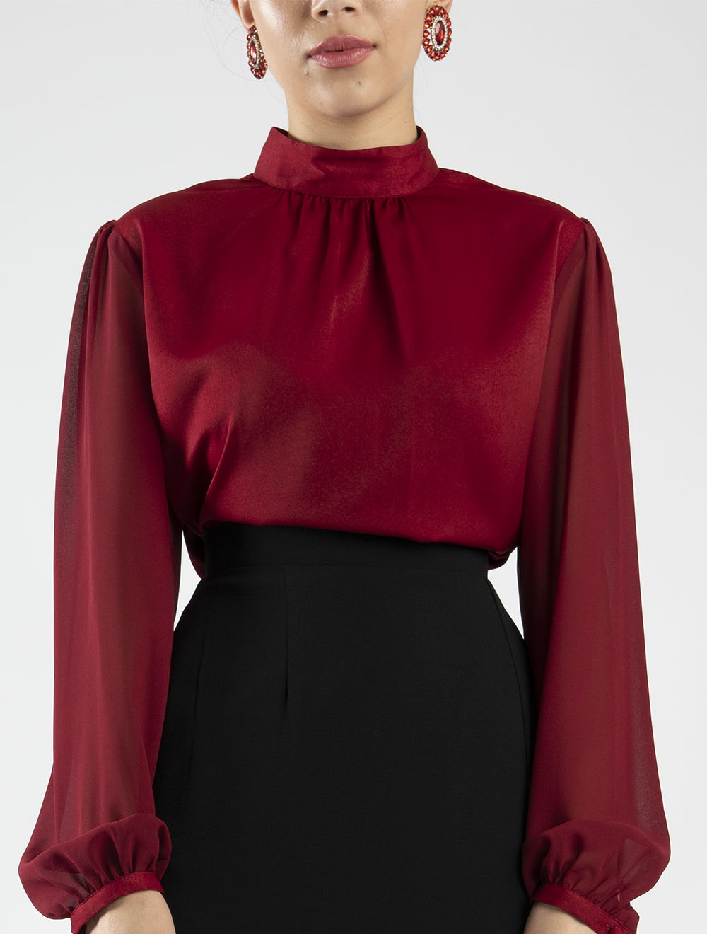 Gathered Neck Top – Front