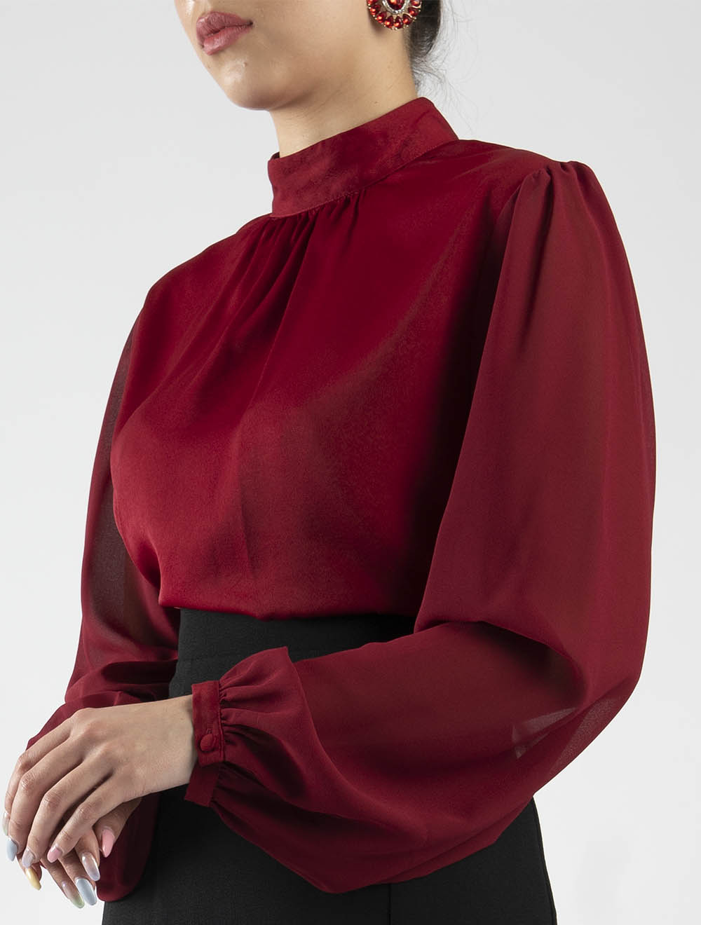 Gathered Neck Top – Side