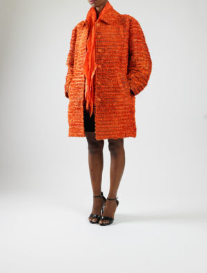 Silk Fur Coat (Orange)