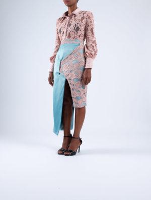 Cocoon Cross-Over Pencil Skirt