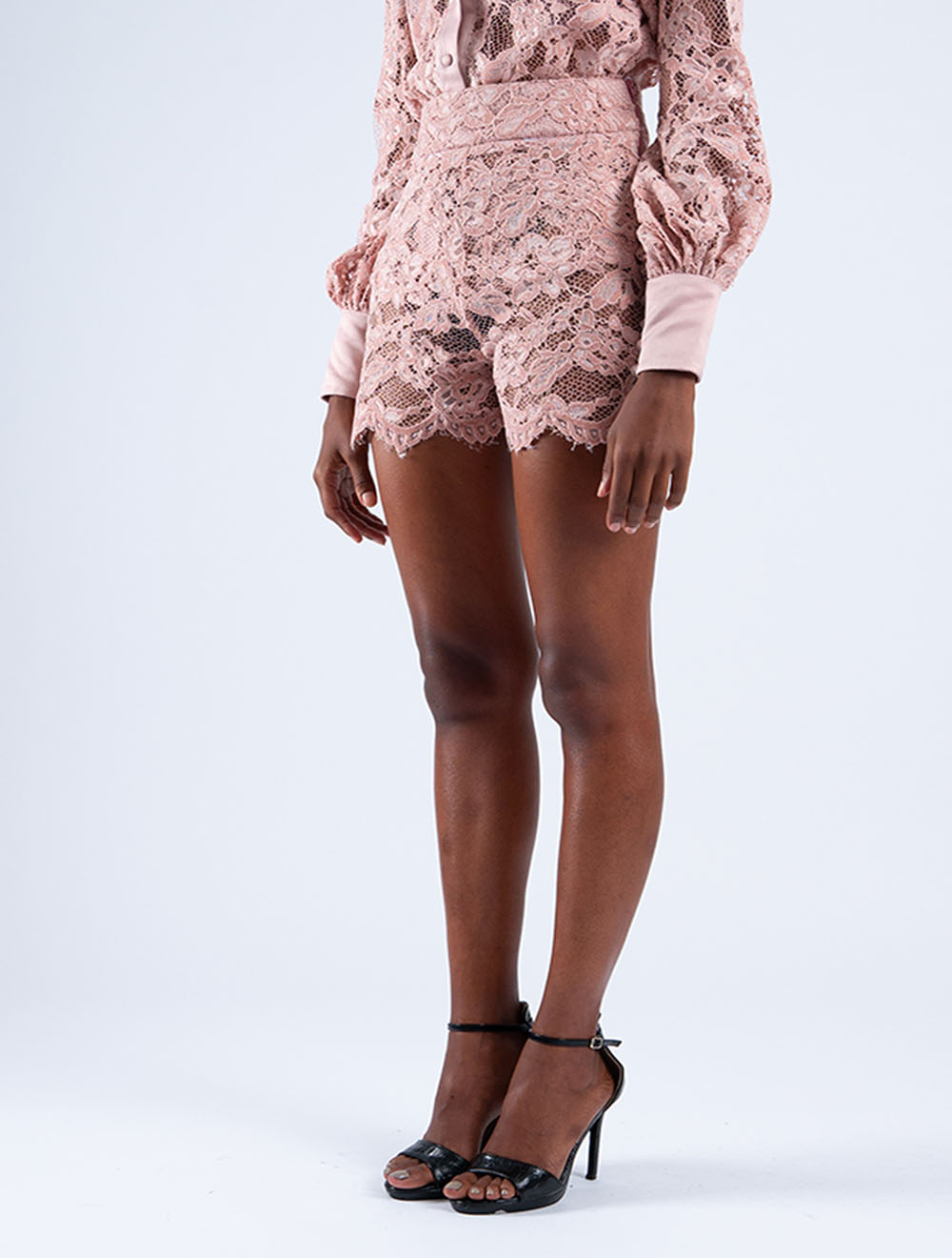 Flocked Cocoon Shorts – Side