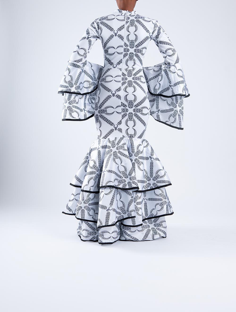 Inkomo yebenguni bell sleeve dress – Back