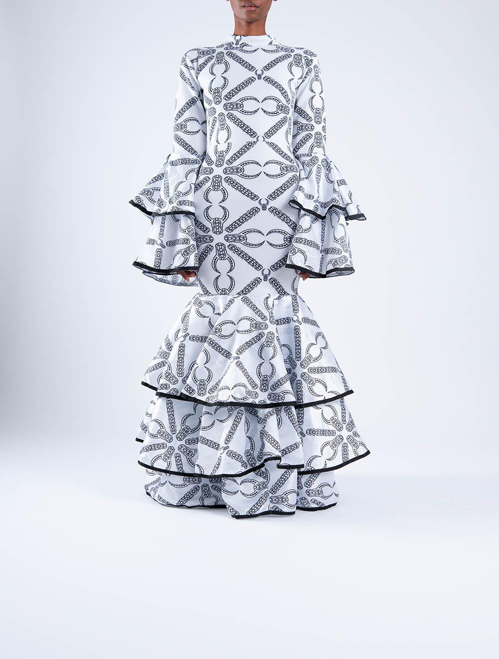 Inkomo yebenguni bell sleeve dress
