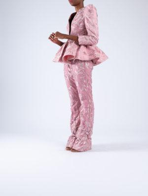 Layered Peplum Tailored Jacket
