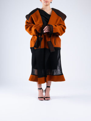 Art Melton & Mesh Coat/Hood