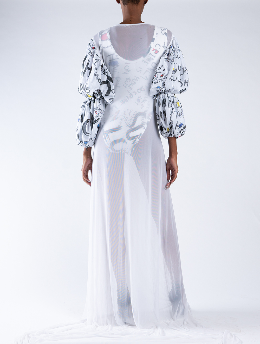 AMEN Sheer Dress – Back