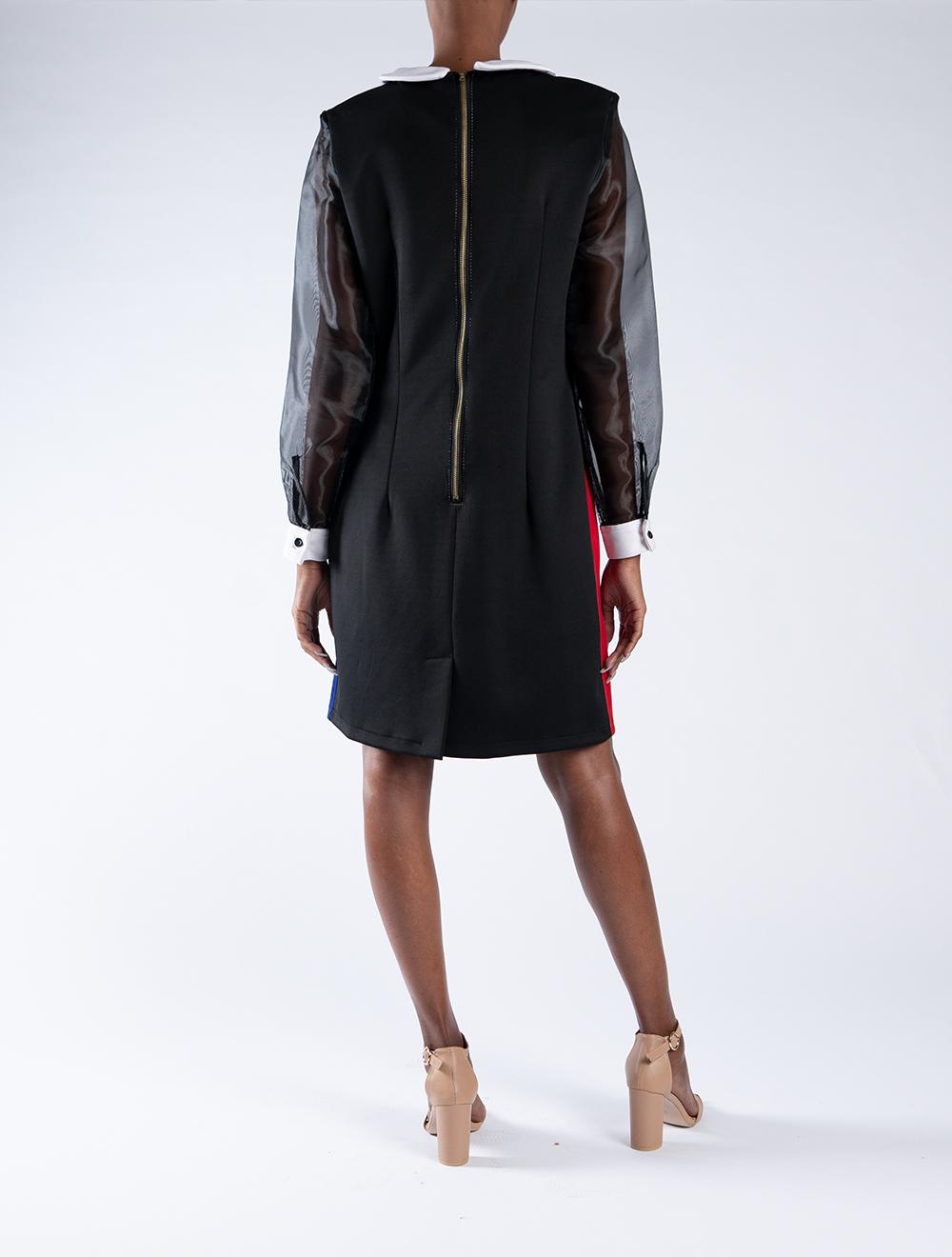 Ndebele Shift Dress – Back