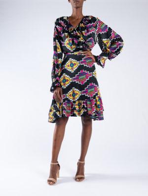 Ndebele Wrap Dress