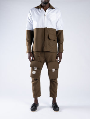 Off cut utility shirt