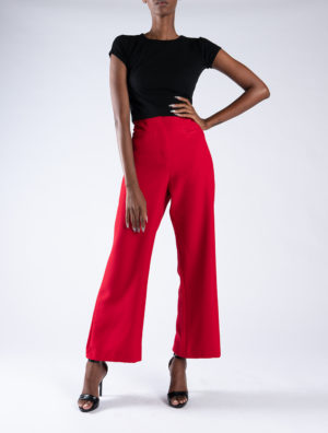 Red Gaberdine Pants