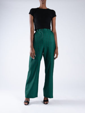 Xhosa Green Gaberdine Pants