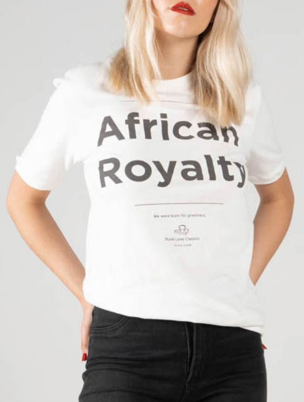 AFRICAN ROYALTY (White) – FRONT
