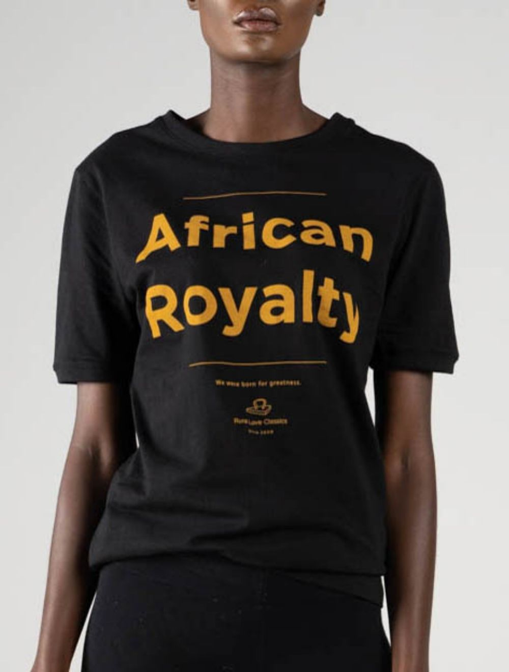 AFRICAN ROYALTY (black) – Front