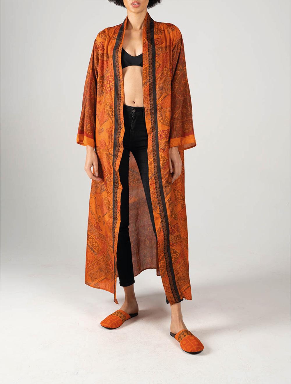 Orange Amira Kimono – Front