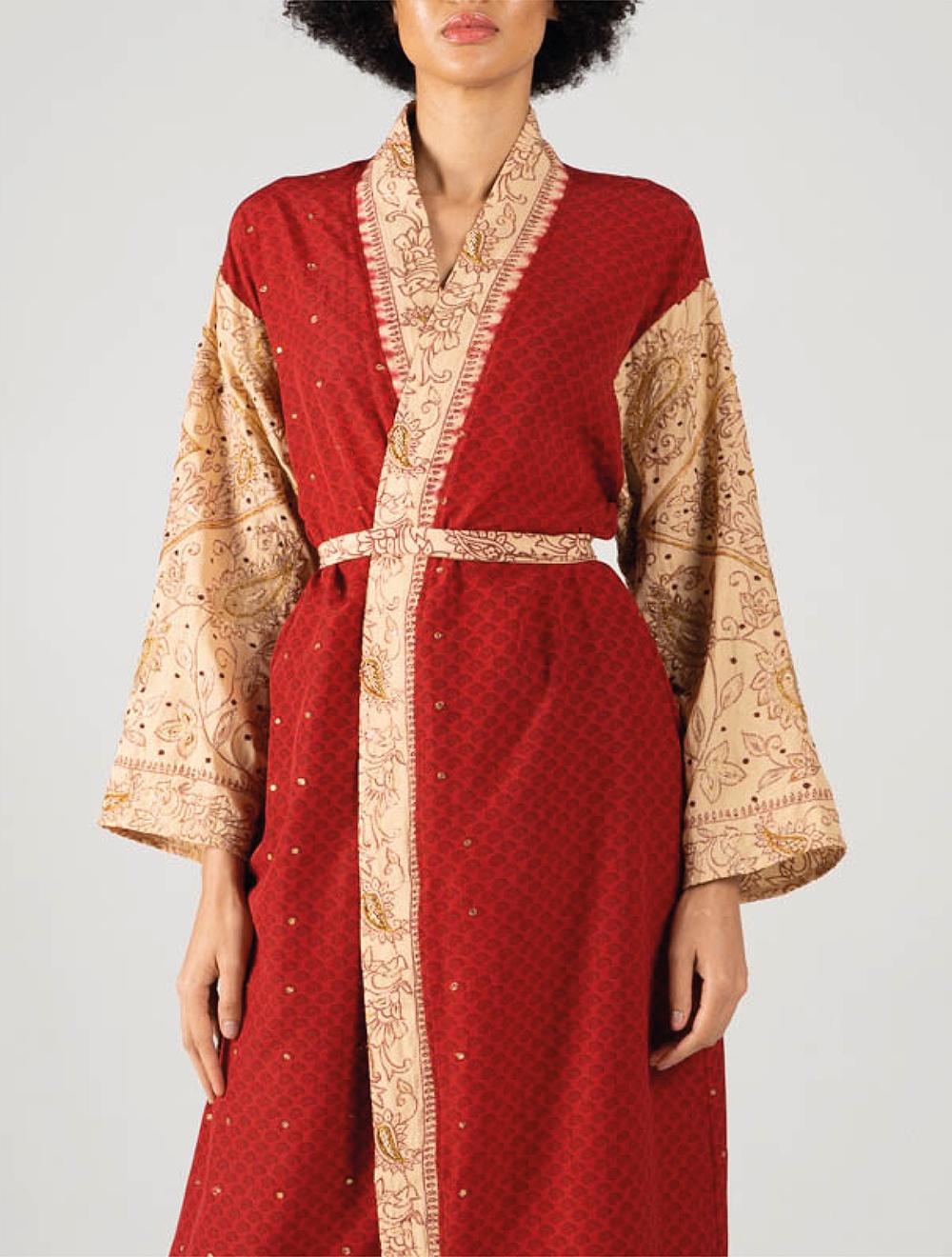 Red Amira Kimono – Front