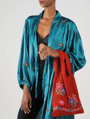 Turquoise Amira Kimono